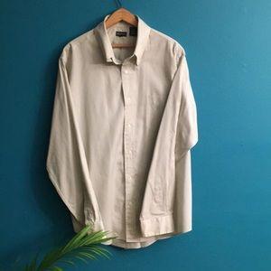 Henry Cottons tan button down shirt